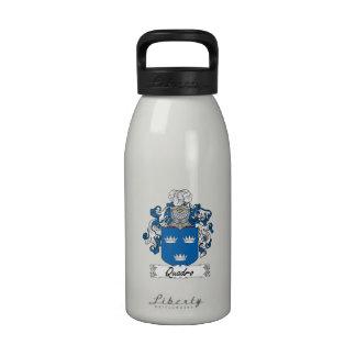 Escudo de la familia de Quadro Botellas De Agua Reutilizables