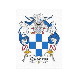 Escudo de la familia de Quadros Lona Estirada Galerías