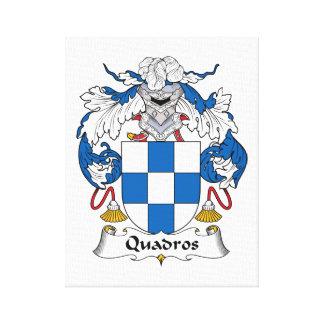 Escudo de la familia de Quadros Impresión De Lienzo