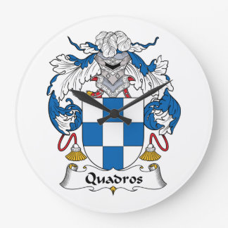 Escudo de la familia de Quadros Reloj De Pared