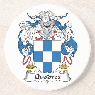 Escudo de la familia de Quadros Posavasos Diseño