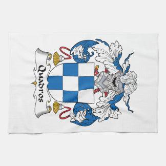 Escudo de la familia de Quadros Toalla