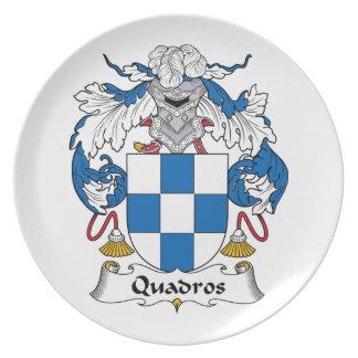 Escudo de la familia de Quadros Plato