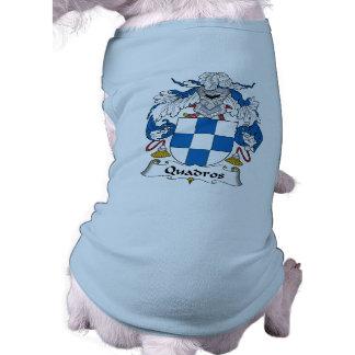 Escudo de la familia de Quadros Ropa Para Mascota