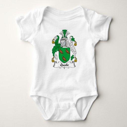 Escudo de la familia de Quaile Tee Shirt