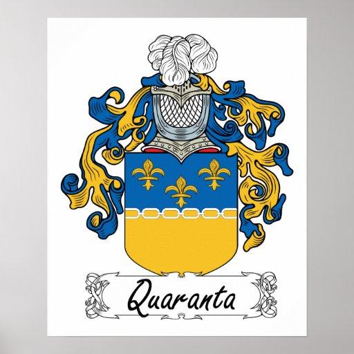 Escudo de la familia de Quaranta Póster