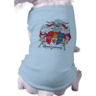 Escudo de la familia de Quaresma Camisetas De Perrito