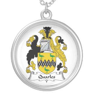 Escudo de la familia de Quarles Colgante Redondo