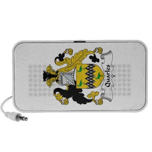 Escudo de la familia de Quarles iPod Altavoces