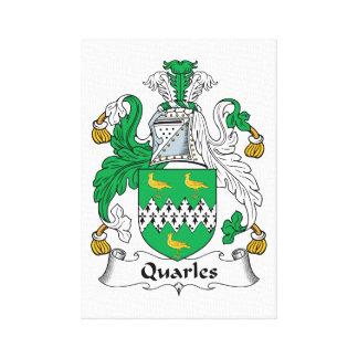 Escudo de la familia de Quarles Lona Envuelta Para Galerías