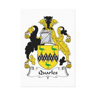 Escudo de la familia de Quarles Impresiones En Lienzo Estiradas