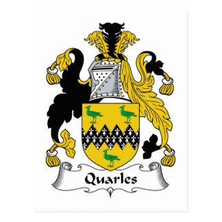 Escudo de la familia de Quarles Postales