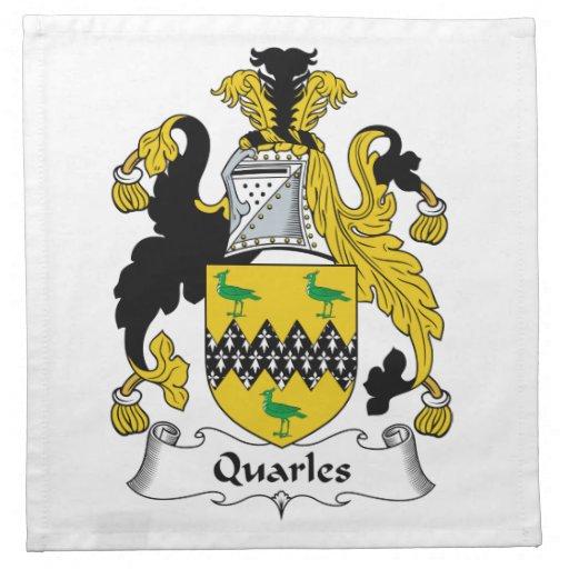 Escudo de la familia de Quarles Servilleta