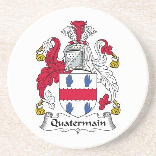 Escudo de la familia de Quatermain Posavasos Diseño