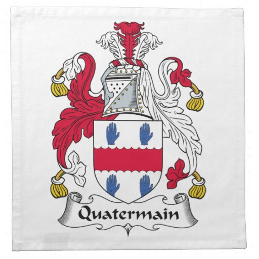 Escudo de la familia de Quatermain Servilletas