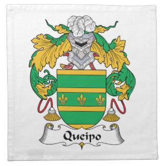 Escudo de la familia de Queipo Servilletas