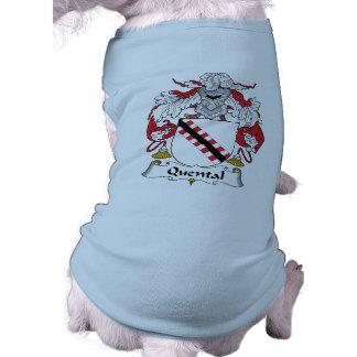 Escudo de la familia de Quental Playera Sin Mangas Para Perro