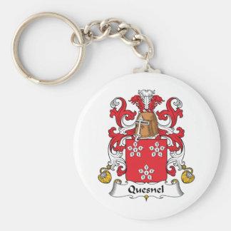 Escudo de la familia de Quesnel Llavero Redondo Tipo Pin