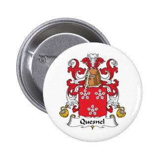 Escudo de la familia de Quesnel Pin Redondo 5 Cm