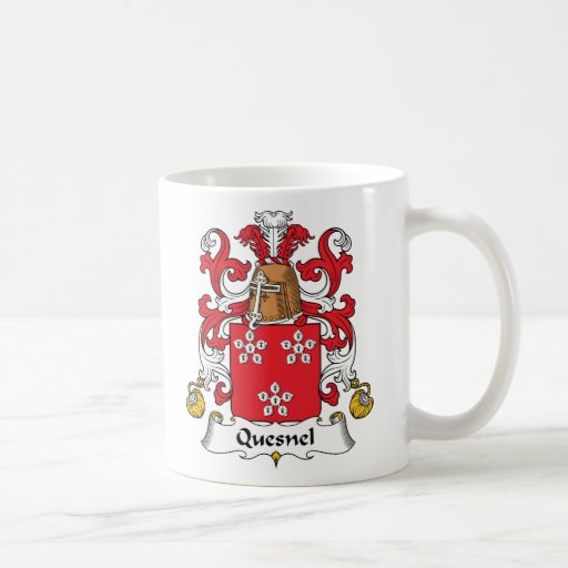 Escudo de la familia de Quesnel Tazas De Café