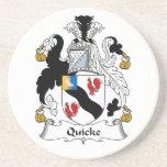 Escudo de la familia de Quicke Posavasos Cerveza