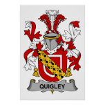 Escudo de la familia de Quigley Impresiones