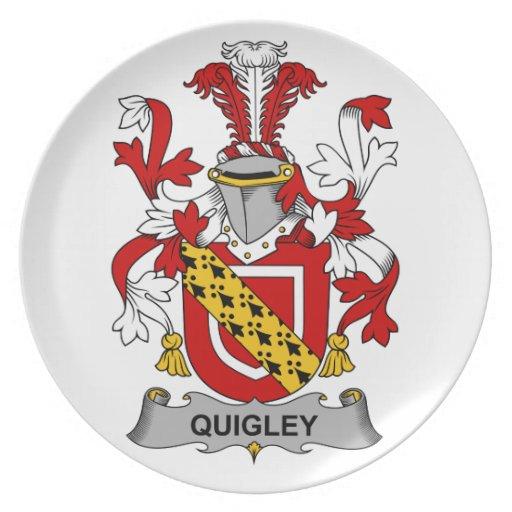 Escudo de la familia de Quigley Platos Para Fiestas