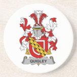 Escudo de la familia de Quigley Posavasos Manualidades