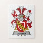 Escudo de la familia de Quigley Rompecabeza Con Fotos