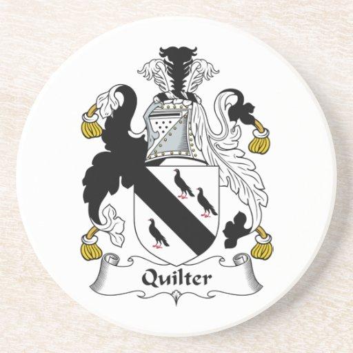 Escudo de la familia de Quilter Posavasos Diseño