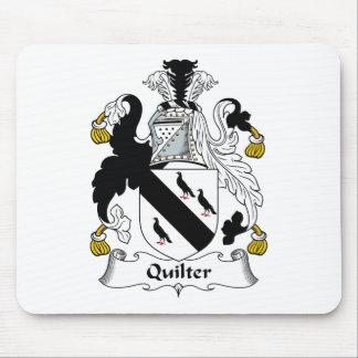 Escudo de la familia de Quilter Tapete De Raton
