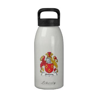 Escudo de la familia de Quincey Botella De Agua
