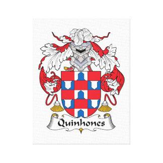 Escudo de la familia de Quinhones Lienzo Envuelto Para Galerías