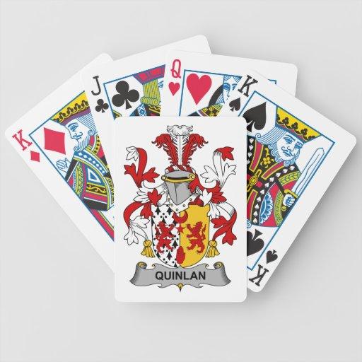 Escudo de la familia de Quinlan Baraja Cartas De Poker