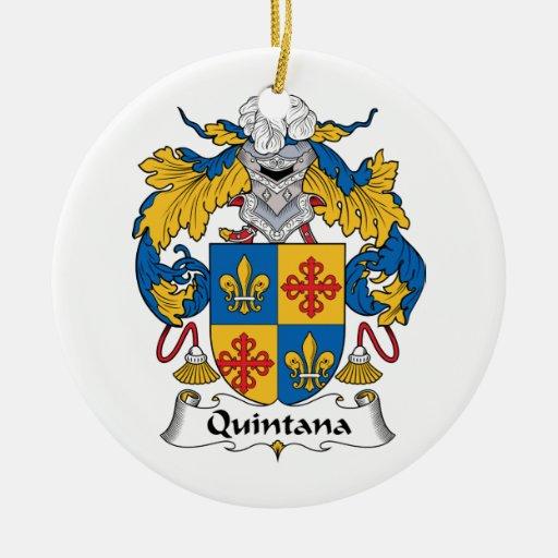 Escudo de la familia de Quintana Ornamento Para Arbol De Navidad