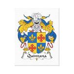 Escudo de la familia de Quintana Impresión De Lienzo