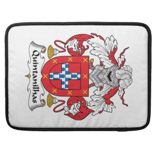 Escudo de la familia de Quintanilhas Funda Macbook Pro
