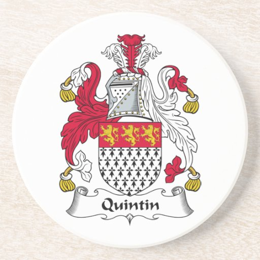 Escudo de la familia de Quintin Posavasos Personalizados
