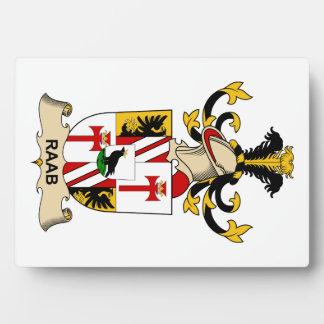 Escudo de la familia de Raab Placas Con Foto