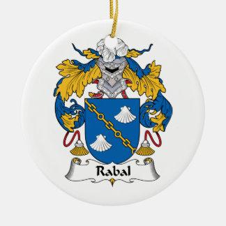 Escudo de la familia de Rabal Ornamento De Navidad