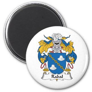 Escudo de la familia de Rabal Imán Redondo 5 Cm