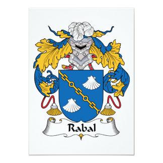 """Escudo de la familia de Rabal Invitación 5"""" X 7"""""""
