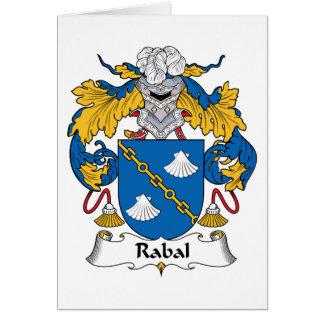 Escudo de la familia de Rabal Tarjeta De Felicitación