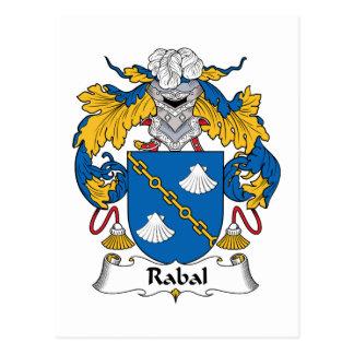 Escudo de la familia de Rabal Tarjetas Postales