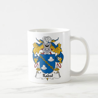 Escudo de la familia de Rabal Taza Básica Blanca