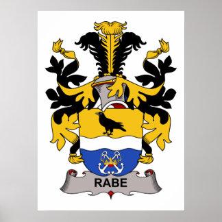 Escudo de la familia de Rabe Póster