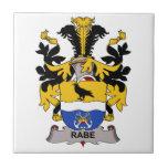 Escudo de la familia de Rabe Tejas Cerámicas