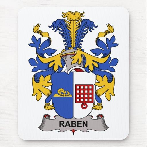 Escudo de la familia de Raben Alfombrillas De Raton
