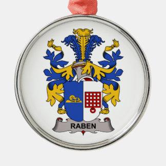 Escudo de la familia de Raben Adorno Redondo Plateado