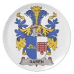 Escudo de la familia de Raben Platos Para Fiestas